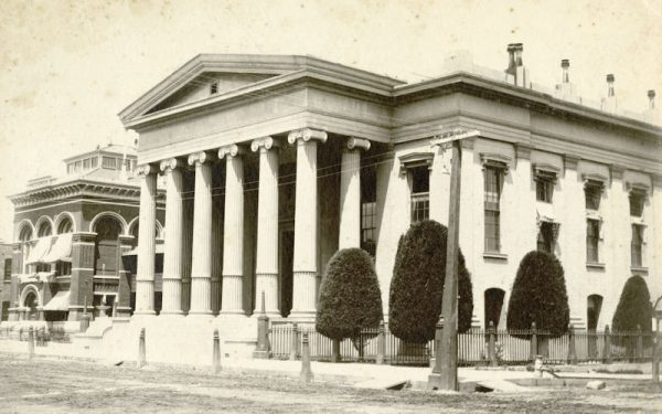 Rebuilt Sacramento Courthouse and former State Capitol 1900s