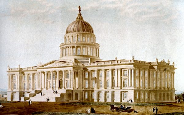 Reuben Clarks original proposal for the State Capitol 1860