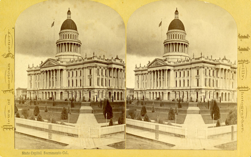 Stereoptic view of Capitol 1880s