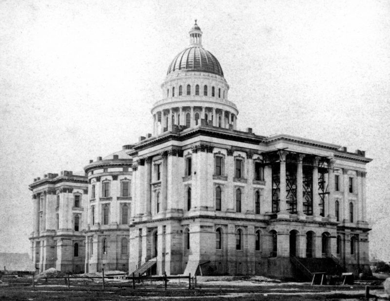 Capitol construction near completion early 1870s