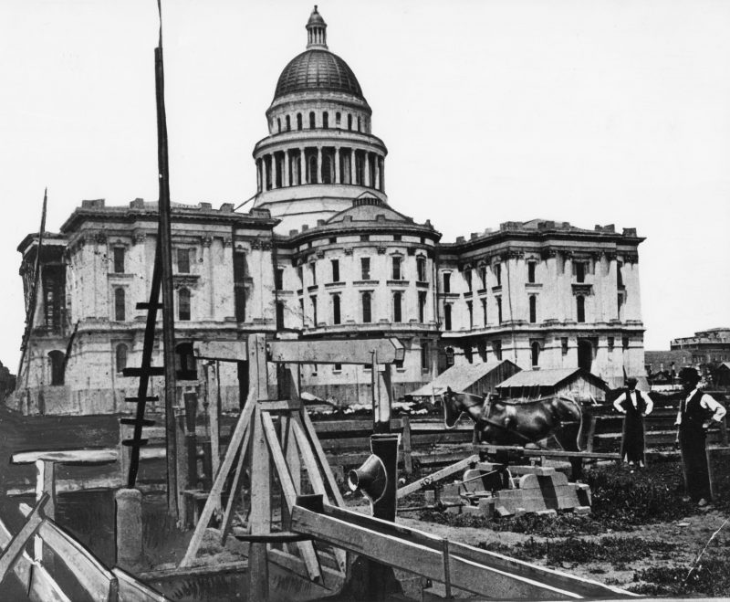 Capitol construction site early 1870s