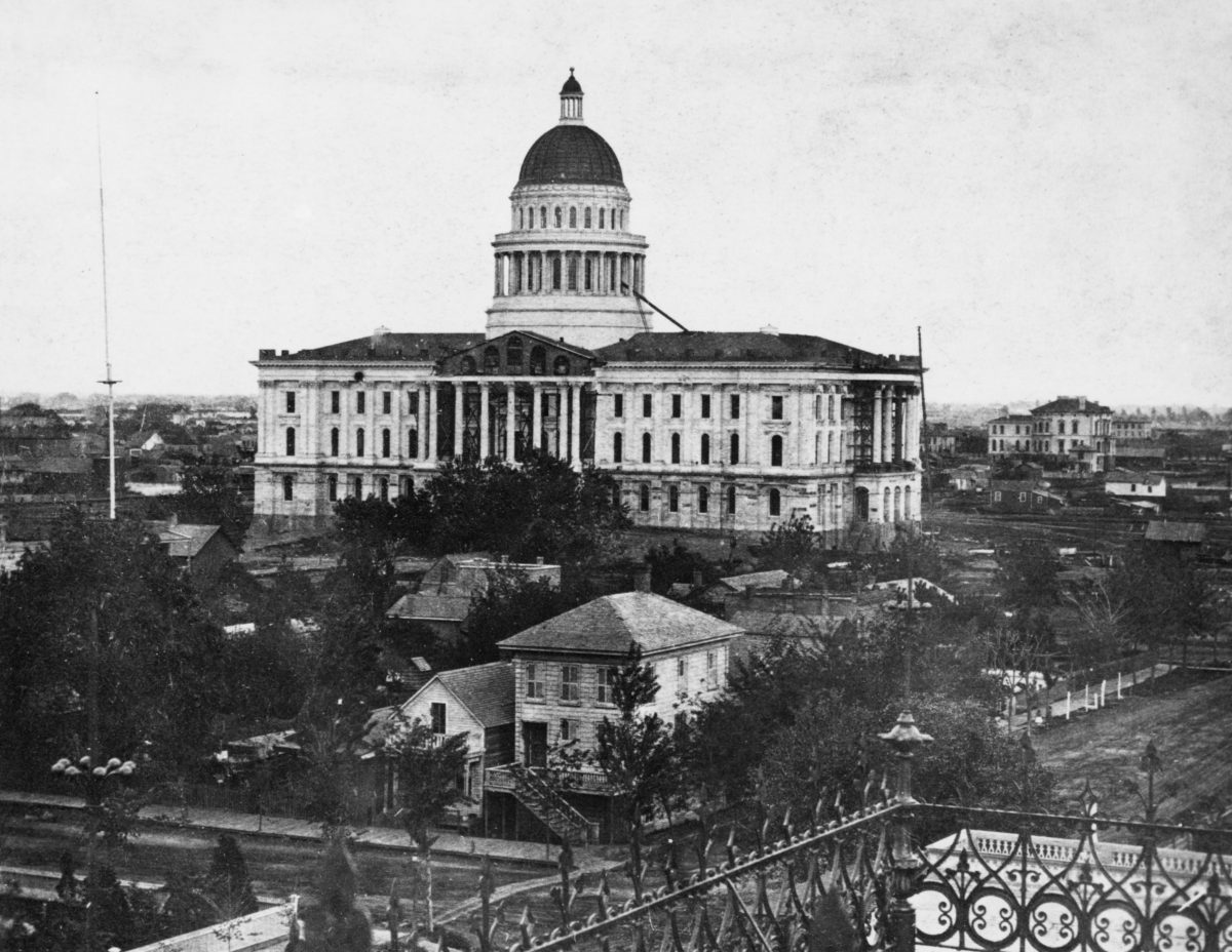 Capitol under construction circa 1870
