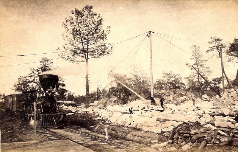 Central Pacific Railroad Line at Lincoln quarry 1860s