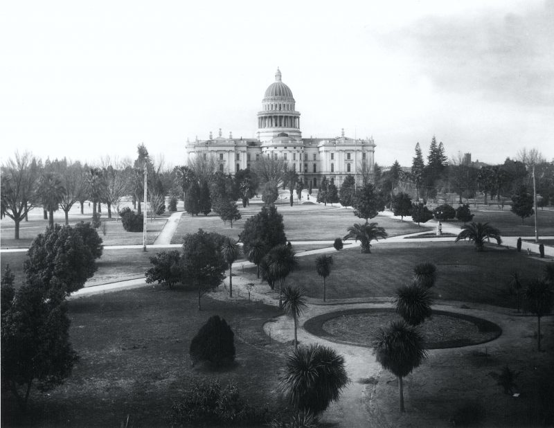 In Capitol Park looking west early 1900s