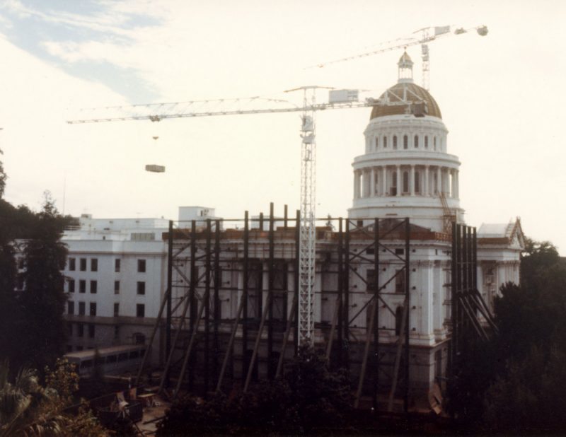 Restoration work on Capitol Exterior