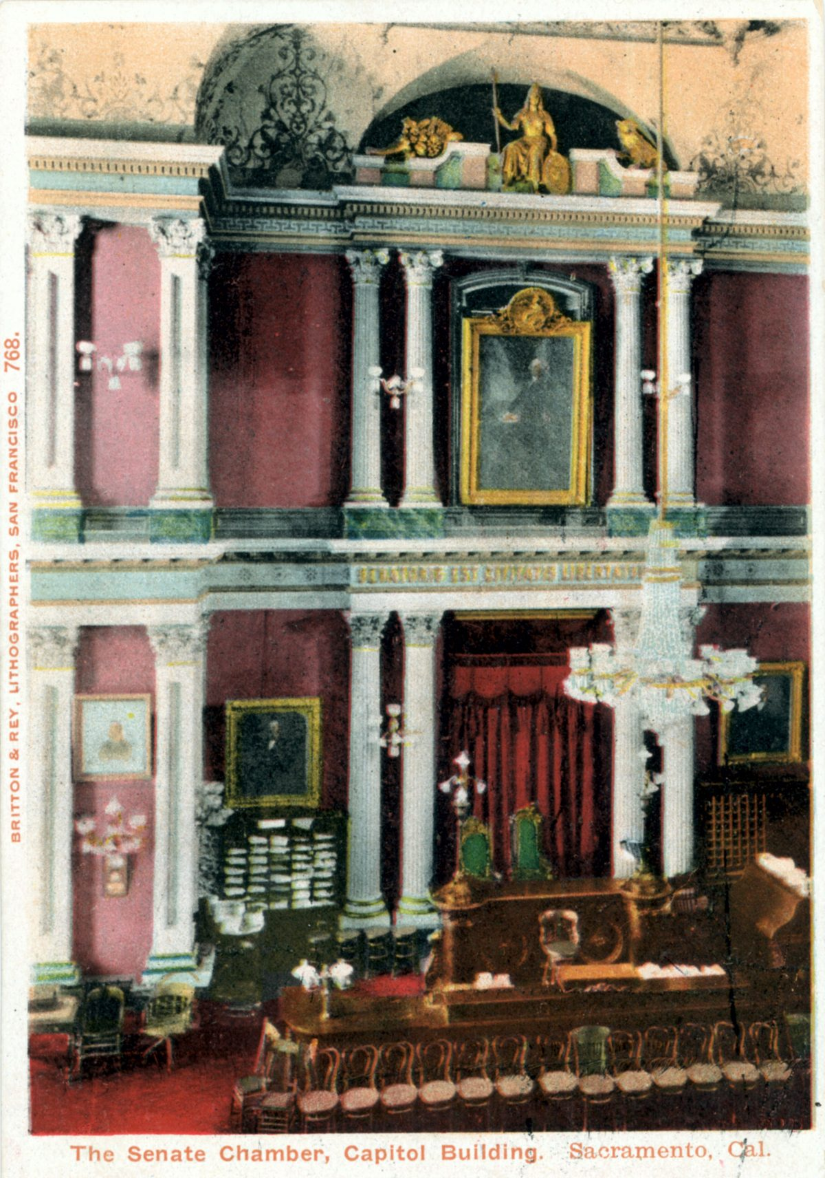 Senate dais postcard 1910s