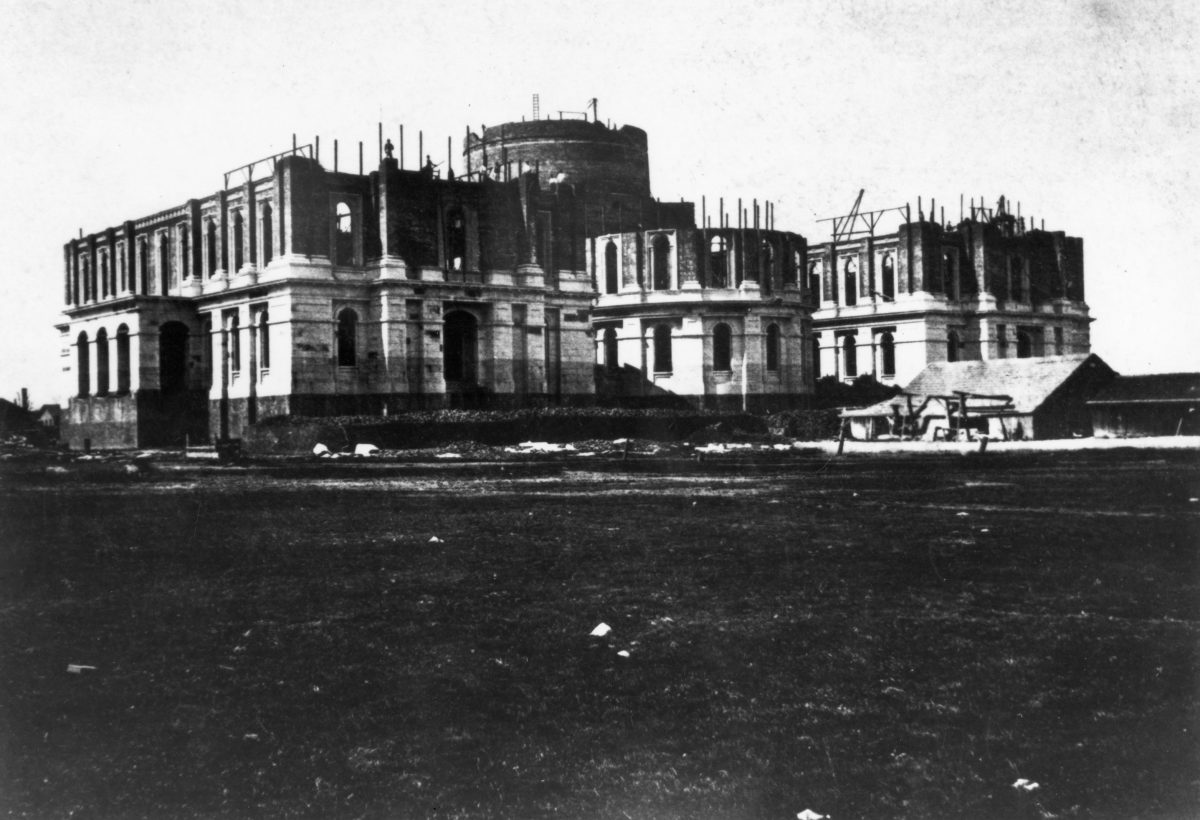 Southeast construction of the Capitol circa 1867