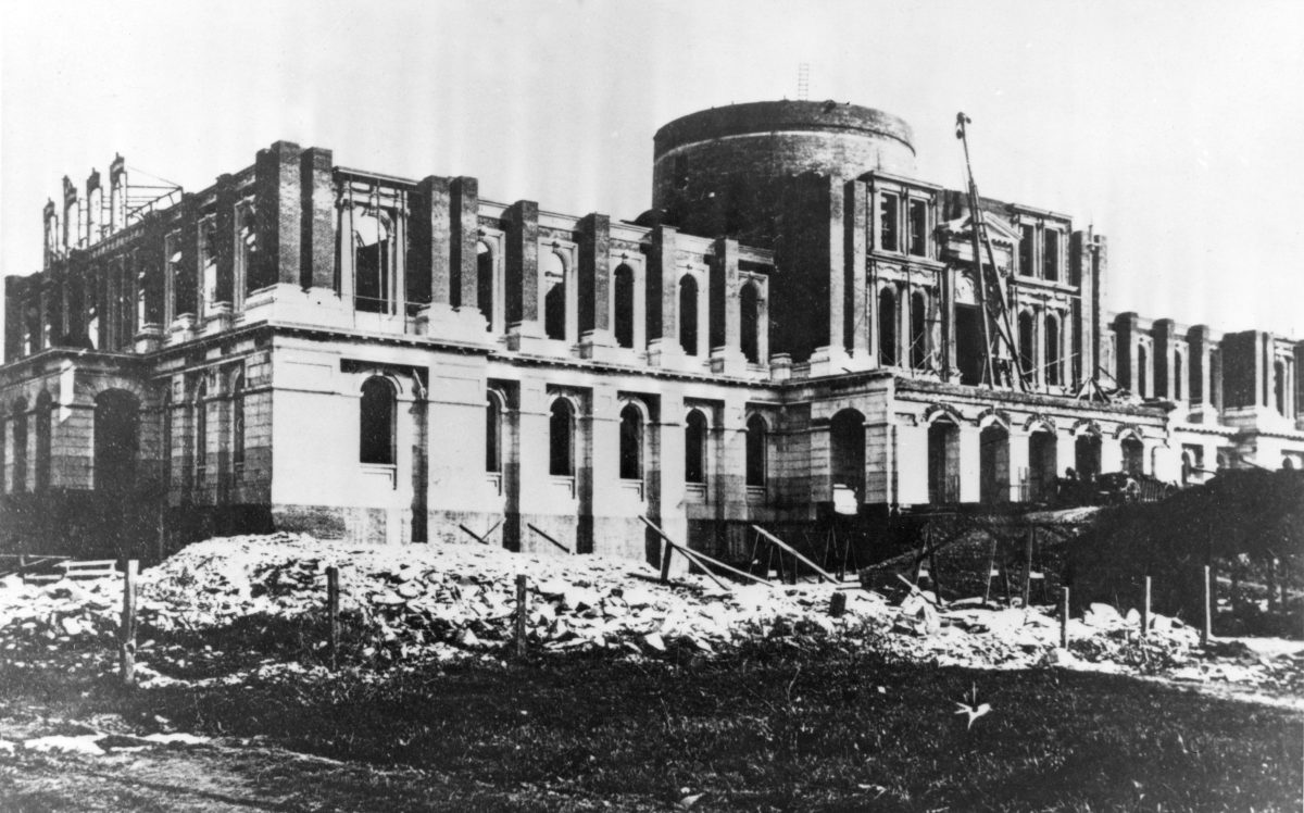 West construction of the Capitol circa 1867
