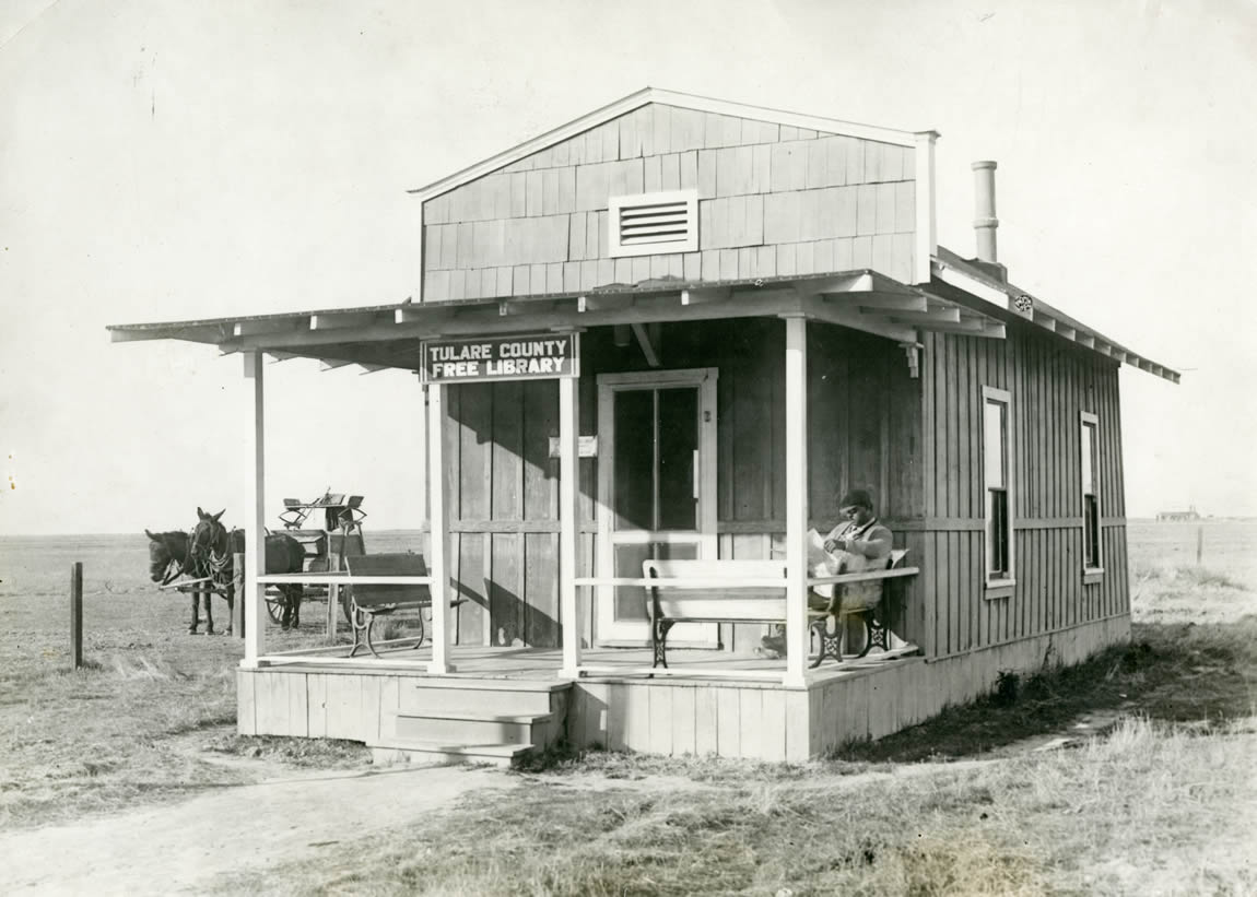 Exterior of the Tulare County Library branch at the African American township of Allensworth, c.1910s
