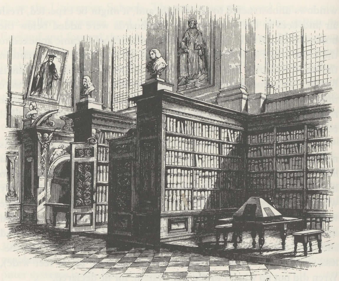 The Wren Library at Trinity College, Cambridge University, 1695
