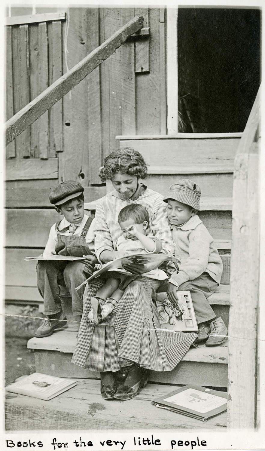 "Photograph entitled ""Books for the very little people,"" Santa Barbara Free Library, c. 1910s"