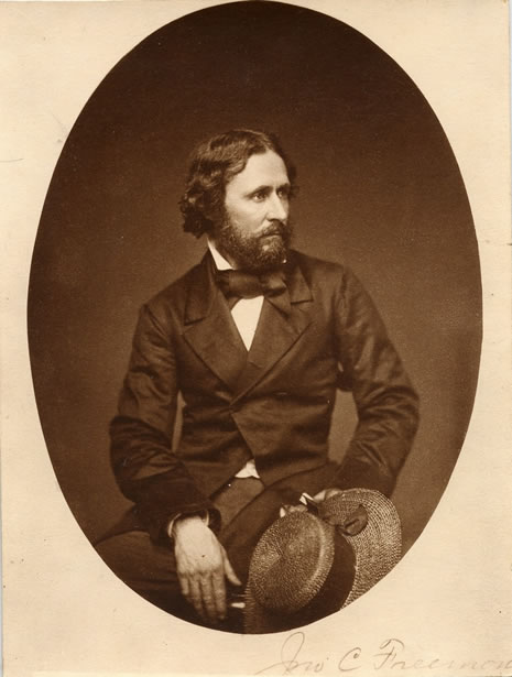 Photograph of John Fremont who donated a trunk of books to the newly established CSL