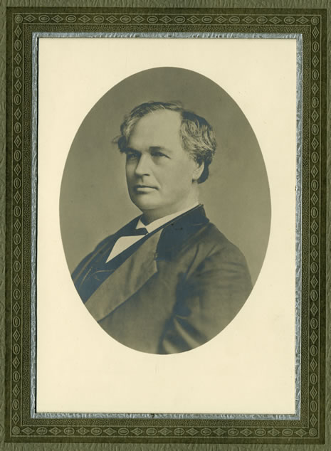 Portrait of James W. Denver, the second State Librarian