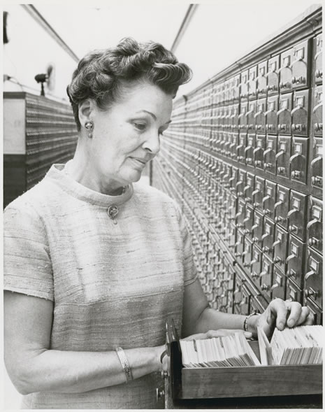 Photograph of Carma R. Zimmerman, the eighteenth State Librarian.