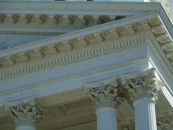 Ionic columns at the State Capitol