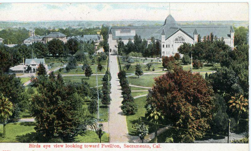 1910 Agricultural Pavilion Postcard