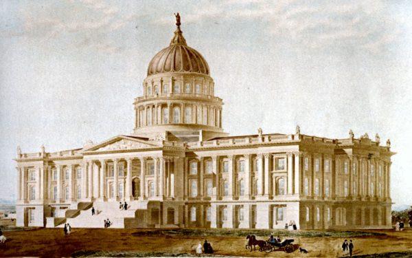Reuben Clarks original proposal for the State Capitol 1860