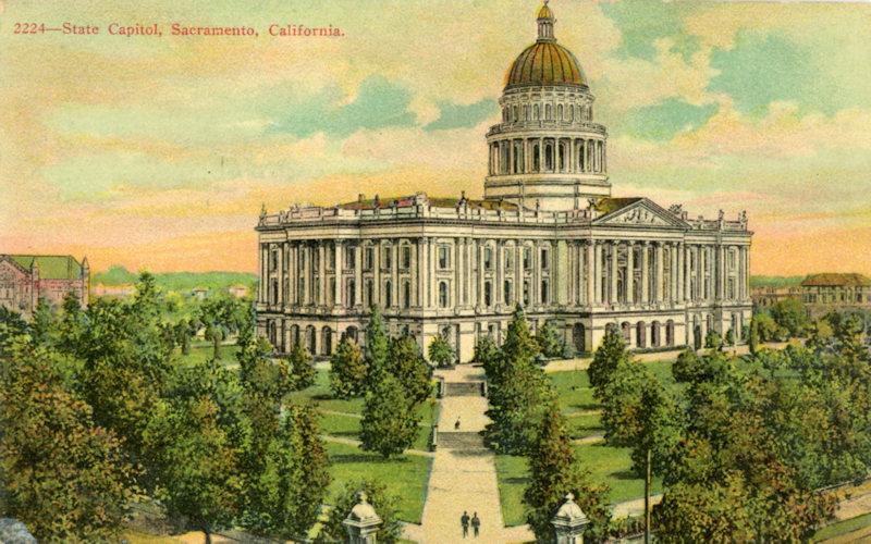 1910 Capitol Grounds Postcard