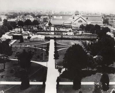 Agricultural Pavilion and State Fairgrounds in Capitol Park 1800s