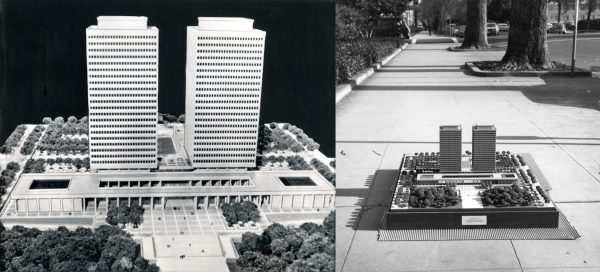 Architectural models for Collier Towers 1960s