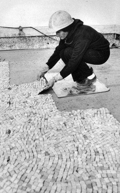 Laying mosaic
