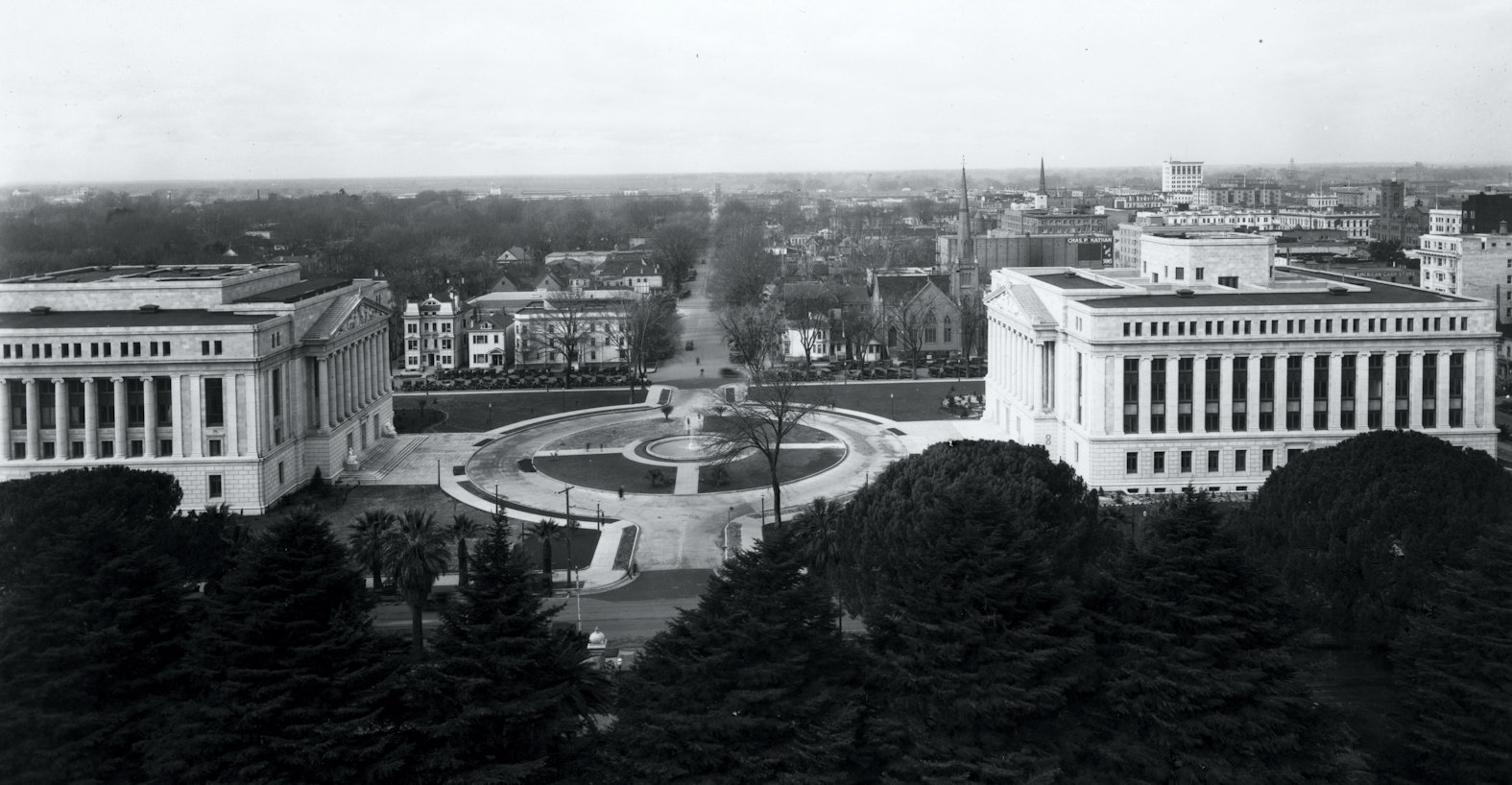 Looking west to the Capitol Extension and Capitol Mall 1920s