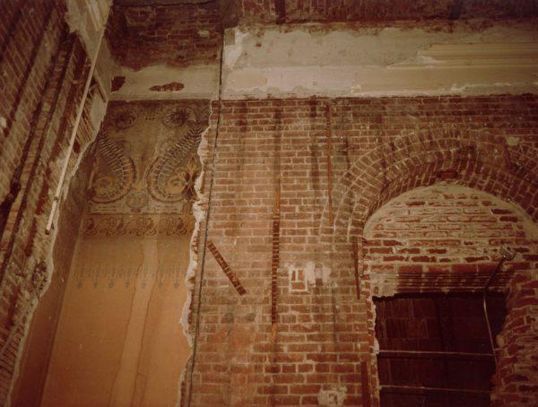 Original frieze and brickwork