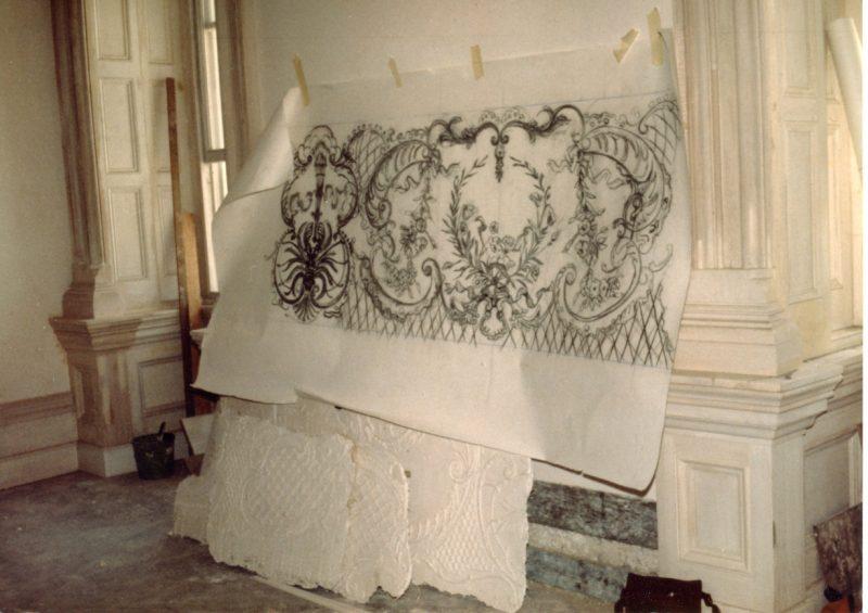 Punch cartoon of plasterwork design