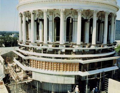 Reinforcement work on the rotunda