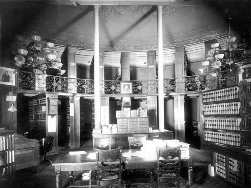 State Library Law Department located in the Capitol circa 1910