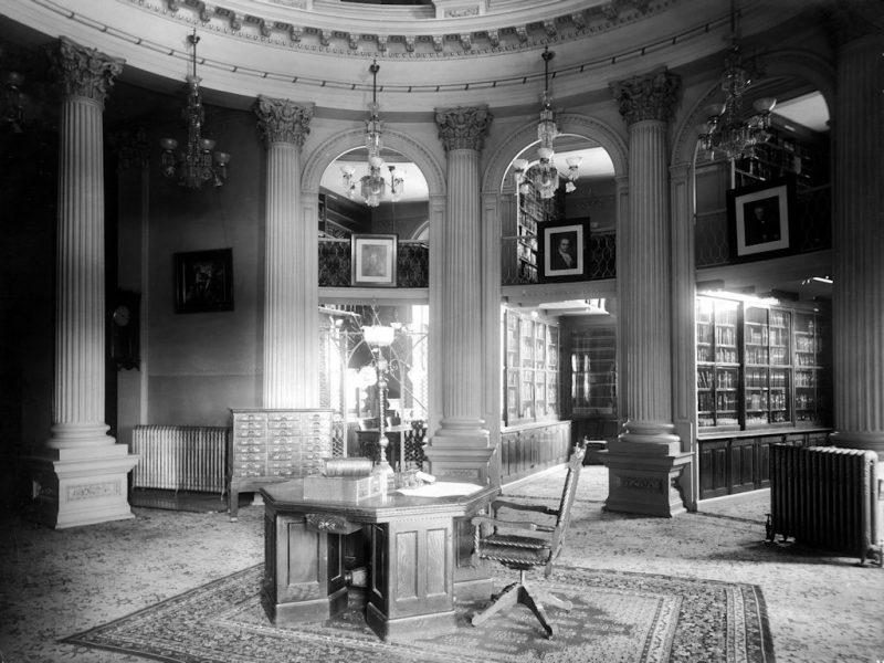 State Library Loan Desk located in the Capitol circa 1904