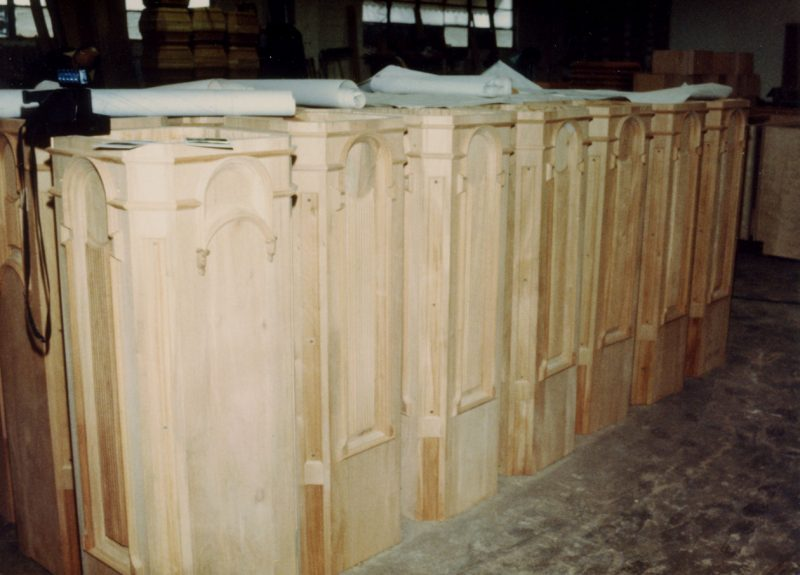 Unfinished staircase newel posts