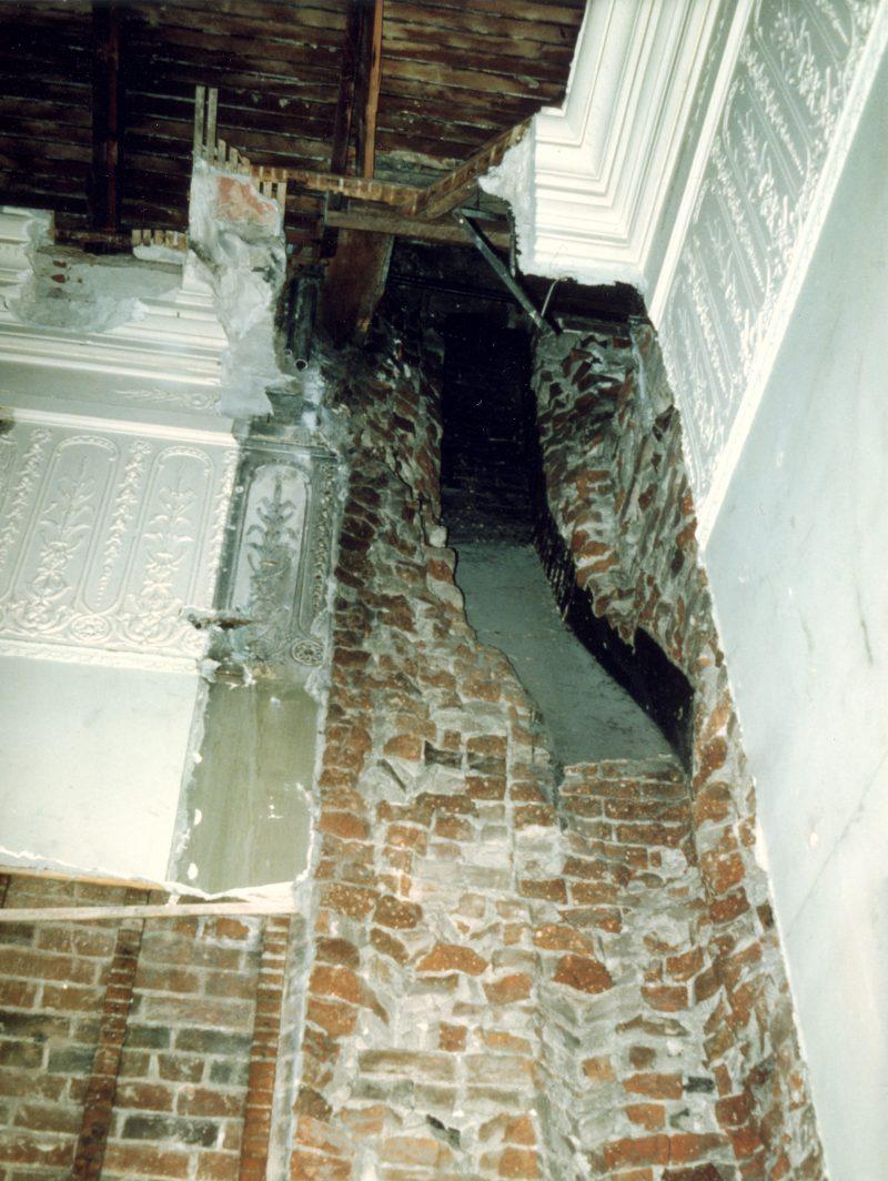 Weakened brickwork in the Capitol late 1970s
