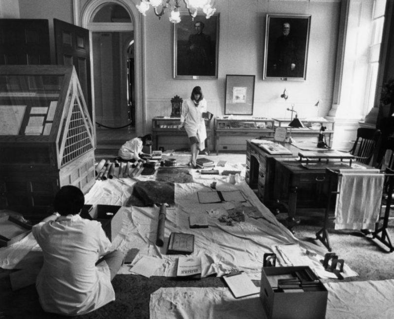 Capitol Museum Sorting Artifacts