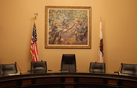 Committee Room with artwork from Capitol Art Program