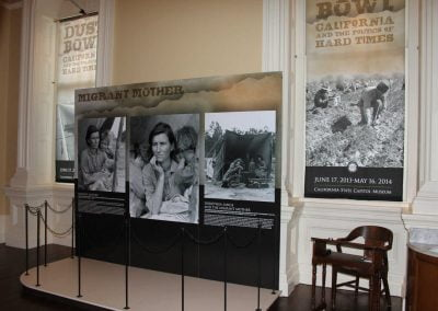 Dust Bowl Exhibit Room - Migrant Mother