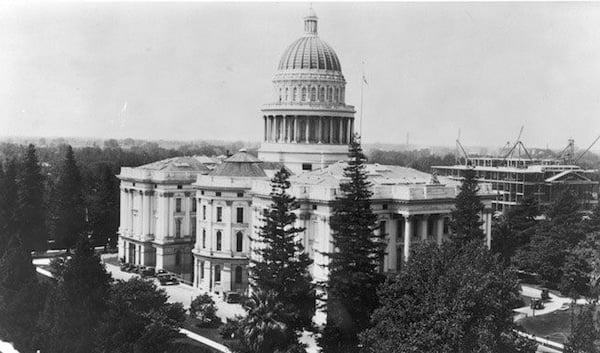 Capitol being built